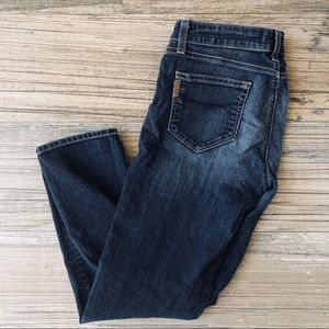 Paige dark washed cropped jeans